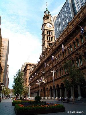 アンザック記念碑があるシドニー中心部のマーティン・プレイス