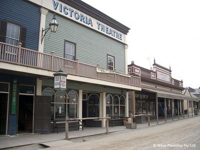 当時の町並みを再現した、金鉱の歴史展示を兼ねた屋外テーマパーク風ミュージアム「Sovereign Hill ソブリンヒル」